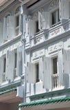 Singapore, vecchio cinese della città alloggia le facciate Parte anteriore della via Fotografia Stock Libera da Diritti