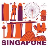 Singapore vector illustration vector illustration
