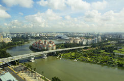Singapore. View from the Ferris wheel. Stock Image