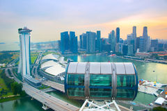Singapore view from Flyer Royalty Free Stock Image