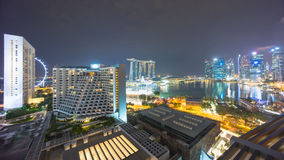 Singapore view with urban skyscrapers at night Stock Photo