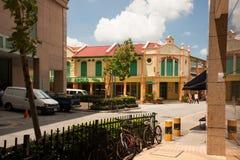 Singapore Vista sul frammento del distretto piccola India Fotografia Stock
