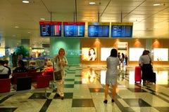 Singapore: Vänta för flygplats Royaltyfri Fotografi