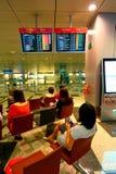 Singapore: Vänta för flygplats Royaltyfria Bilder