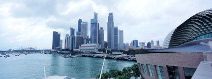 Singapore waterfront city building Royalty Free Stock Image