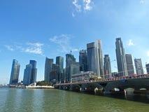Singapore Waterfront Downtown Stock Photos