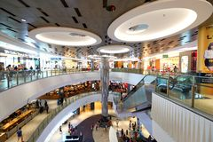 Singapore : Waterway Point shopping centre Stock Photo