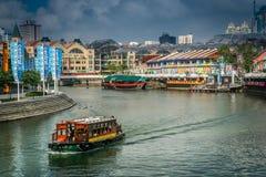 Singapore waterway Royalty Free Stock Photos