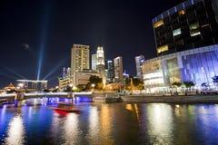 singapore waterways royaltyfri foto