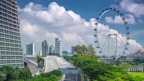 Singapore wheel Day timelapse Traffic jam. 4k stock video
