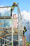 Singapore workers Royalty Free Stock Photography