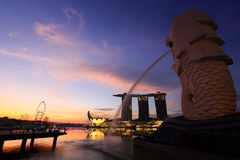 Singapore is the world's fourth leading financial centre Stock Images