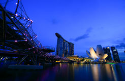 Singapore is the world's fourth leading financial centre Stock Image