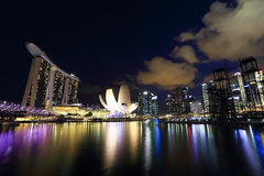 Singapore is the world's fourth leading financial centre Royalty Free Stock Photos