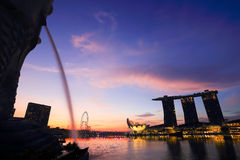 Singapore is the world's fourth leading financial centre Stock Photography