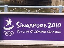 Singapore Youth Olympics 2010. YOG starts 14-26 August 2010 in Singapore.  Ideal for publications/ new/reports, signage, banner Royalty Free Stock Images