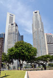 Singaporean Banking District Royalty Free Stock Photos