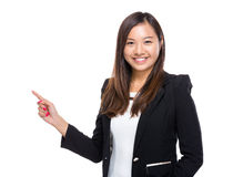 Singaporean businesswoman with finger point up Stock Images