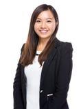 Singaporean businesswoman. Isolated on white Royalty Free Stock Photo