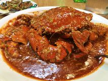 Singaporean Chili Crab. World famous Singaporean chili crab Stock Photo