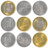 Singaporean dollar coins collection royalty free stock image