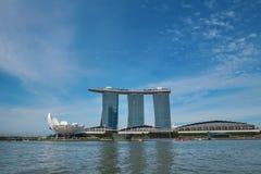 Singaporean skyline Royalty Free Stock Image