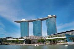 Singaporean skyline Stock Photos