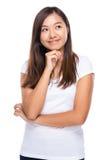Singaporean woman decide the idea Royalty Free Stock Photography
