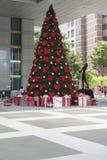 Singaporean X-mas tree at shopping mall Royalty Free Stock Image