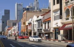Singaporecolorful dziedzictwa peranakan dom w ex kolonialny gromadzki pełnym shophouses fotografia royalty free