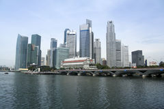 Singapores financial district city skyline Royalty Free Stock Photography