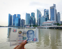 Singaporianska dollarsedlar royaltyfri bild