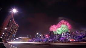 Singapour 50 ans de feu d'artifice de célébration Image libre de droits
