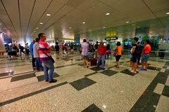 Singapour : Attente d'aéroport Photographie stock libre de droits