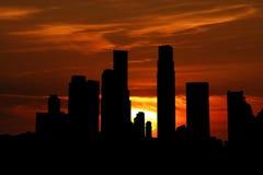 Singapour au coucher du soleil Photo stock