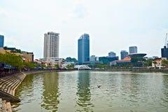 Singapour. Bateau Quay Photos stock