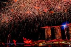 Singapour célèbre l'anniversaire du jubilé SG50 photos libres de droits
