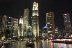 Singapour CBD et bateau Quay Photographie stock libre de droits