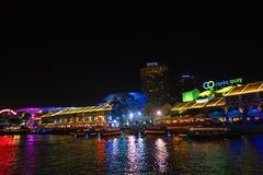 Singapour Clark Quay Night View Photo stock