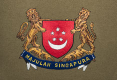 Singapore coat of arms Stock Images