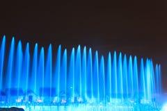 Exposition de laser dans Sentosa, Singapour Image libre de droits