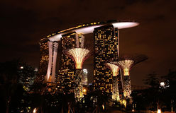 Sable de baie de marina, Singapour Photos libres de droits
