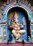 Singapour : Dieu de Ganesh au temple de Sri Mariamman Images stock