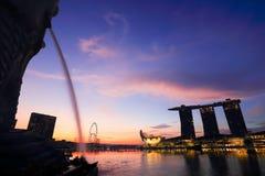 Singapour est place financière du monde la quatrième principale Photographie stock