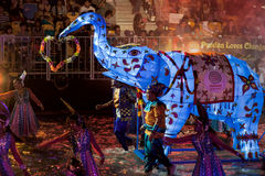 SINGAPOUR - 3 FÉVRIER : Festival 2012 de Chingay à Singapour sur F Photographie stock libre de droits