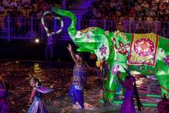 SINGAPOUR - 3 FÉVRIER : Festival 2012 de Chingay à Singapour sur F Image libre de droits