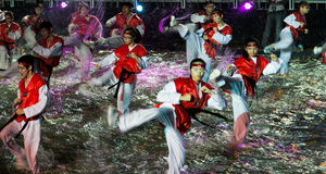 SINGAPOUR - 3 FÉVRIER : Festival 2012 de Chingay à Singapour sur F Photos stock