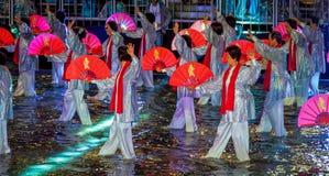 SINGAPOUR - 3 FÉVRIER : Festival 2012 de Chingay à Singapour sur F Photo stock