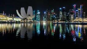 SINGAPOUR - 3 FÉVRIER : Vue de nuit de Singapour sur Februar Photographie stock