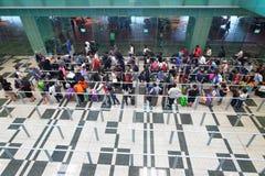 Singapour : File d'attente de taxi Images stock
